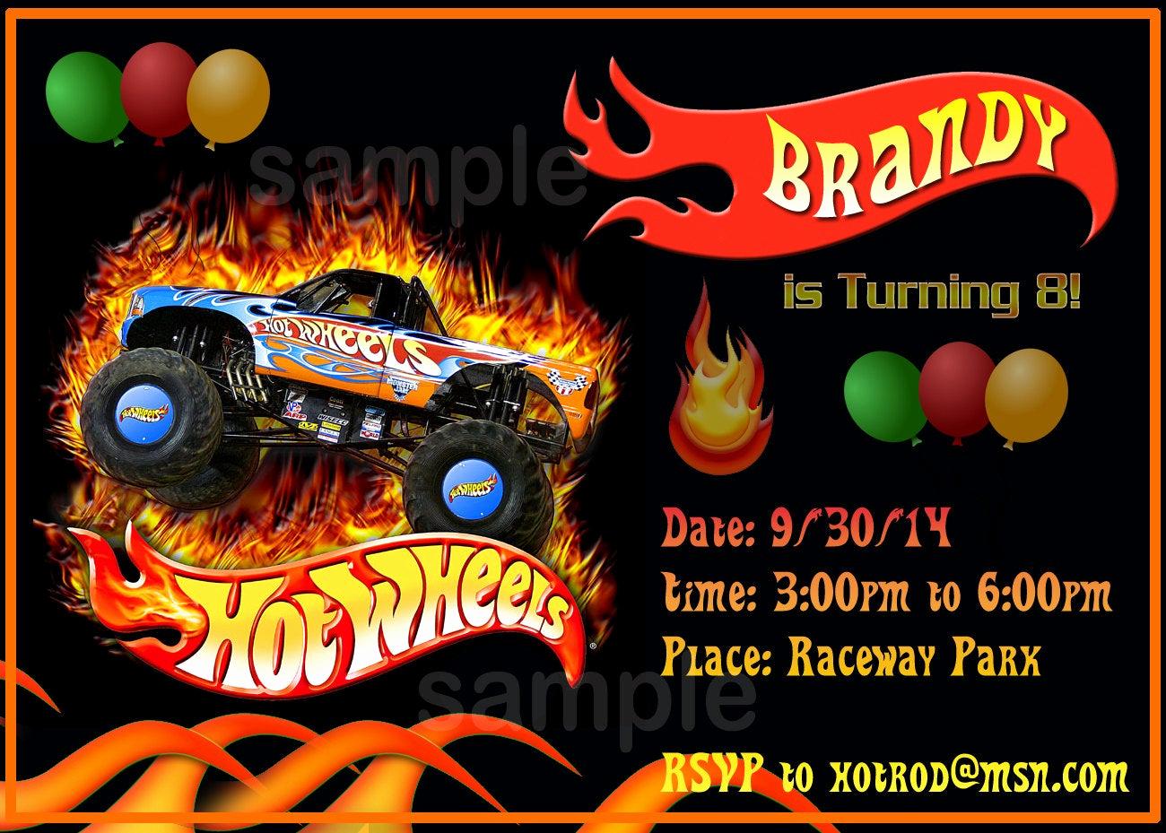 Hot Wheels Invitation Template Unique Personalized Hot Wheels Birthday Invitation by Invititestation