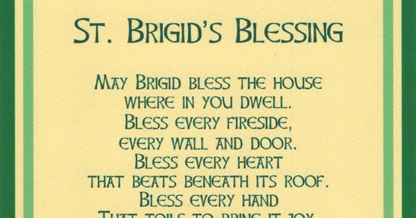 House Blessing Invitation Wording Awesome Irish Blessings St Brigid Package Of Invitation