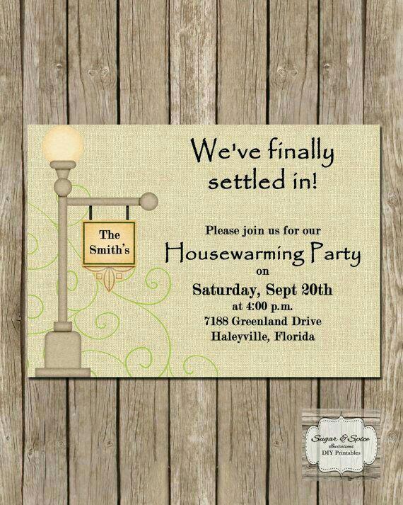 House Blessing Invitation Wording Elegant Settled In and Settling Down