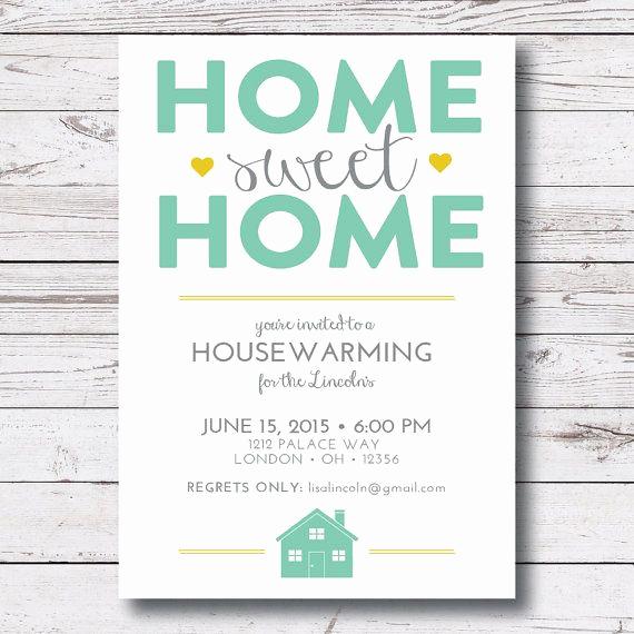 House Blessing Invitation Wording Lovely Instant Download Housewarming Invitation Housewarming