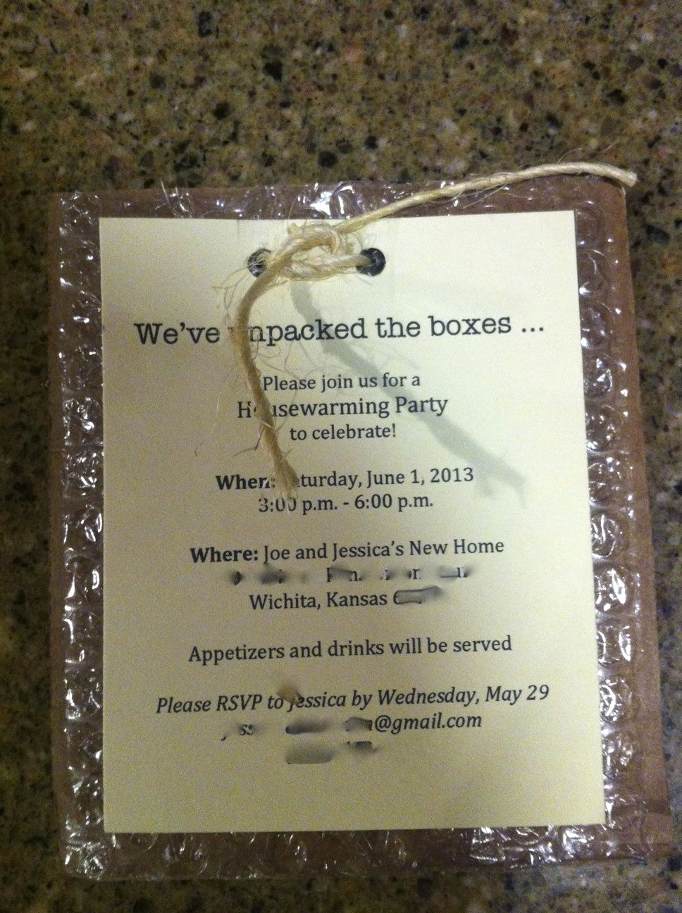 House Warming Invitation Ideas New Our Housewarming Party Invitation with Personal Info
