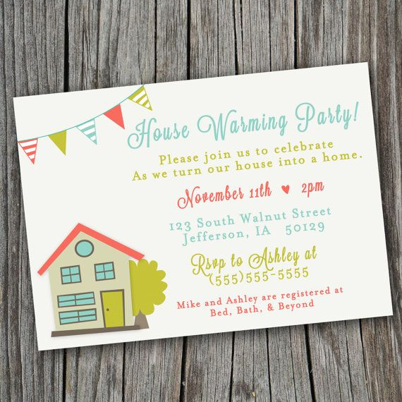 House Warming Invitation Message Elegant House Warming Party Invitation Printable Custom by