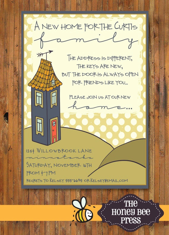 House Warming Invitation Message Inspirational New Home Housewarming Party Invitation New by thehoneybeepress