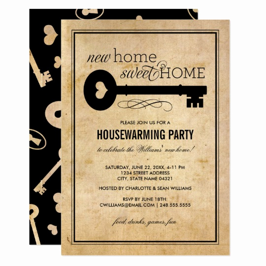 House Warming Party Invitation Ideas Beautiful Housewarming Party New Home Sweet Home Card