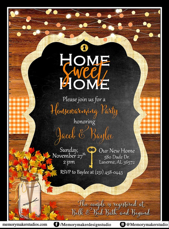 House Warming Party Invitation Ideas Unique Rustic Housewarming Invitation We Ve Moved Announcement