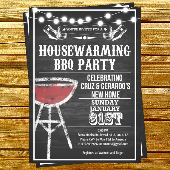 House Warming Party Invitation Template Elegant Housewarming Bbq Party Invitations by Diypartyinvitation