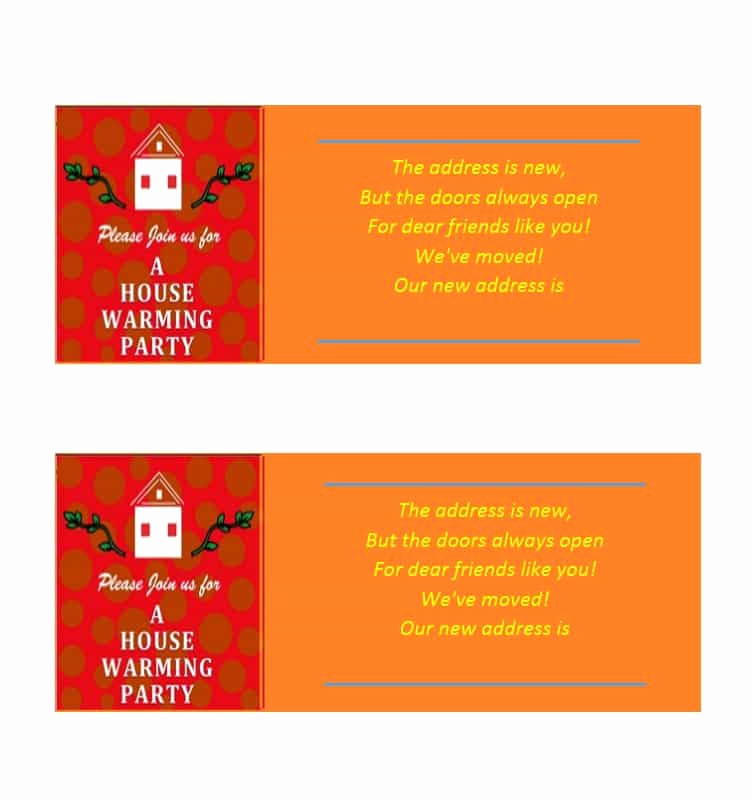 House Warming Party Invitation Template Fresh 40 Free Printable Housewarming Party Invitation Templates