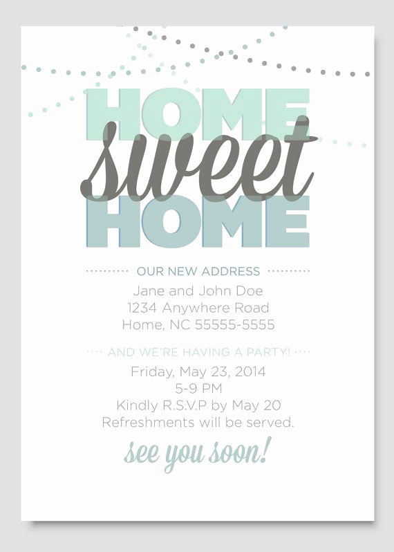 House Warming Party Invitation Template Fresh Housewarming Party Invitation by Papercloudstudios On Etsy