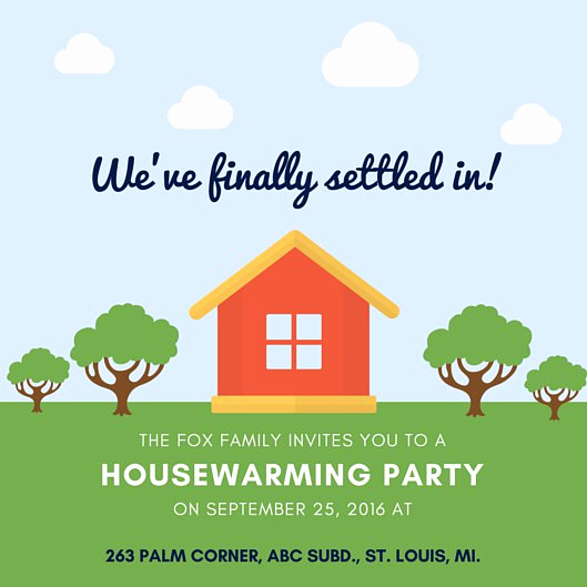 House Warming Party Invitation Template Lovely Housewarming Invitation Templates Canva