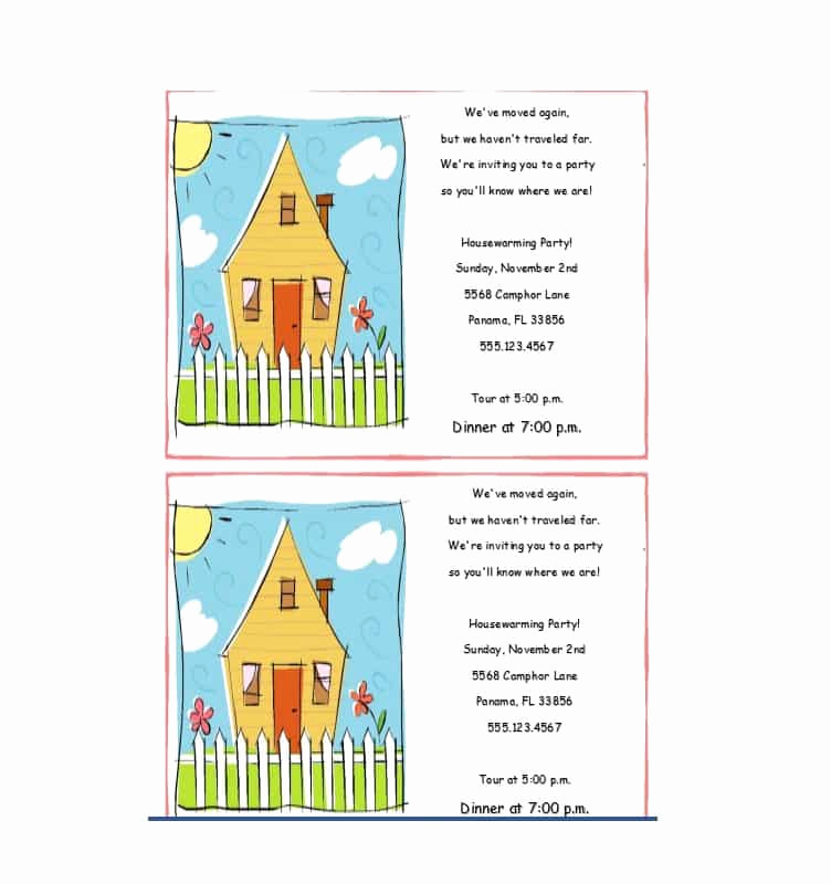 House Warming Party Invitation Template New 40 Free Printable Housewarming Party Invitation Templates