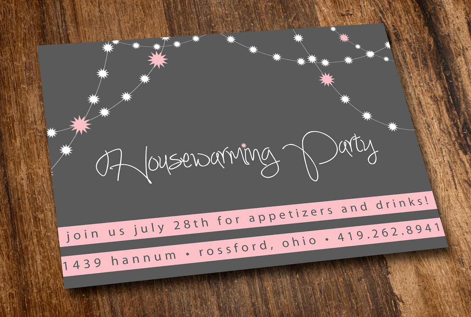 Housewarming Images for Invitation Awesome Printable Housewarming Invitation Pink Lights