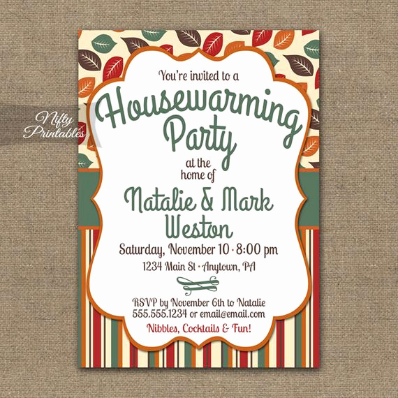 Housewarming Images for Invitation Elegant Fall Housewarming Party Invitations Printable House Warming