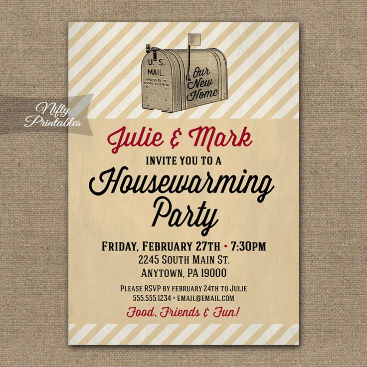 Housewarming Images for Invitation Lovely Housewarming Invitations Printable Vintage House Warming