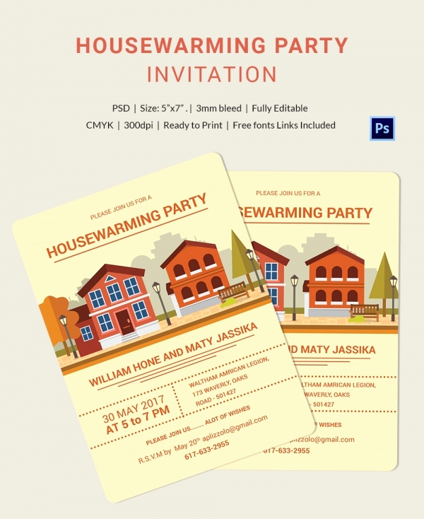 Housewarming Invitation Template Free Best Of Housewarming Invitation Template 30 Free Psd Vector