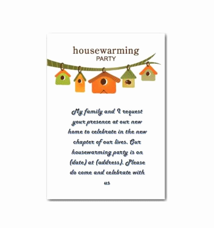 Housewarming Invitation Template Free Lovely 40 Free Printable Housewarming Party Invitation Templates