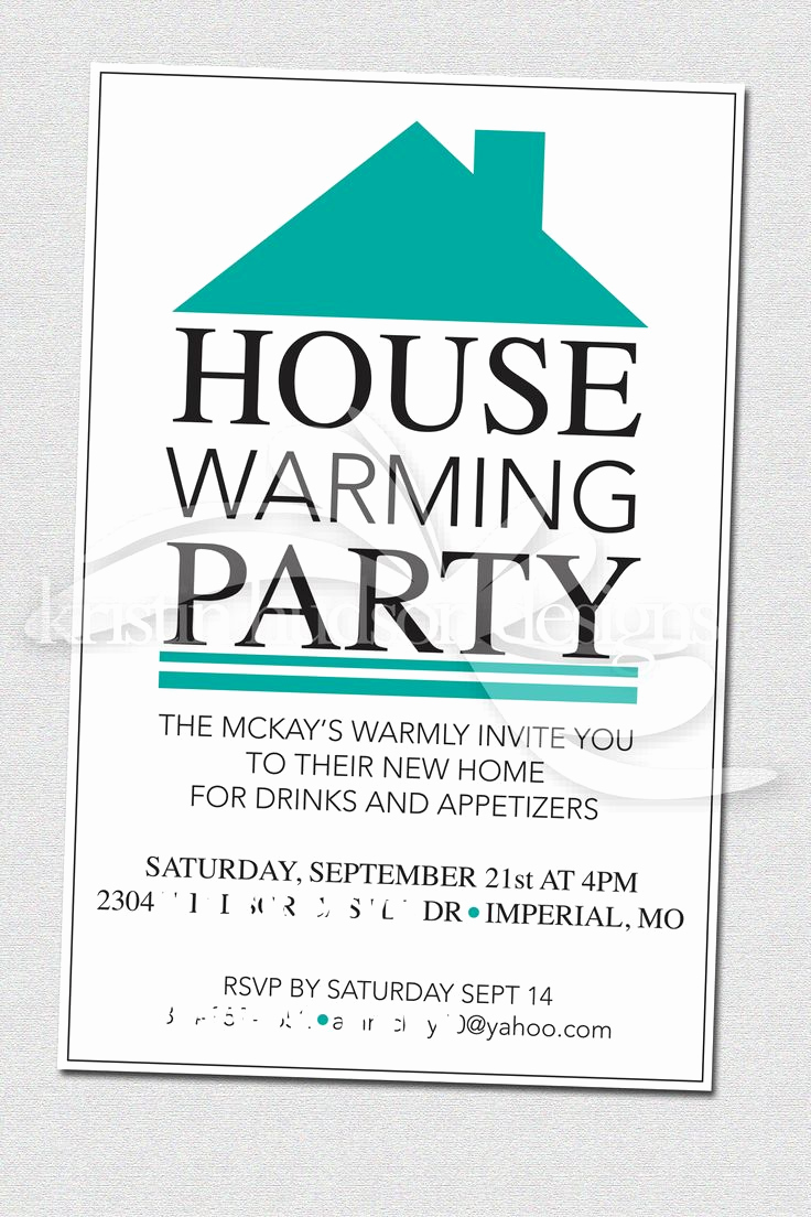 Housewarming Invitation Template Free Lovely House Warming Party Invite
