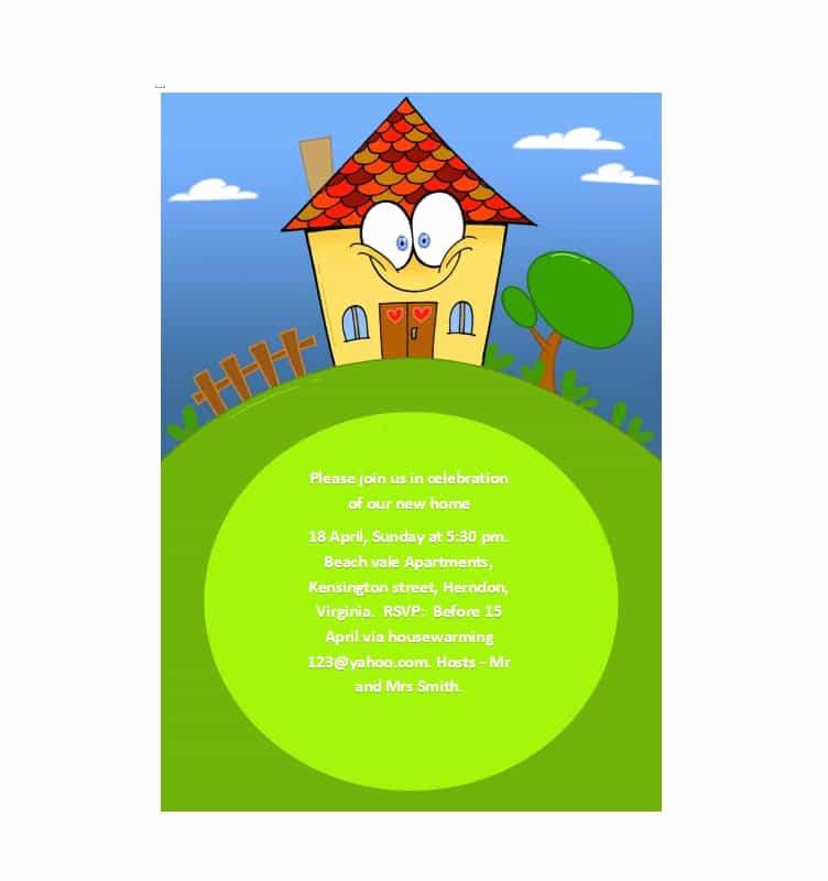 Housewarming Invitation Template Free New 40 Free Printable Housewarming Party Invitation Templates