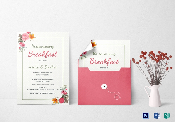 Housewarming Invitation Template Microsoft Word Beautiful 23 Housewarming Invitation Templates Psd Ai