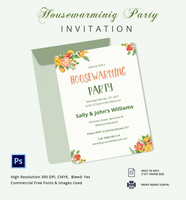 Housewarming Invitation Template Microsoft Word Beautiful Housewarming Invitation Template 30 Free Psd Vector