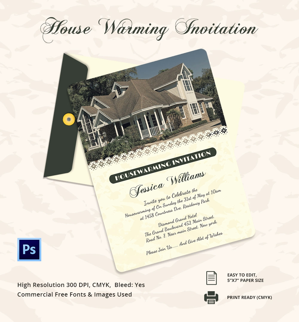 Housewarming Invitation Template Microsoft Word Best Of Housewarming Invitation Template 30 Free Psd Vector