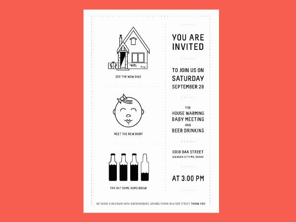 Housewarming Invitation Template Microsoft Word Elegant 36 Unique Housewarming Invitation Designs Psd Vector