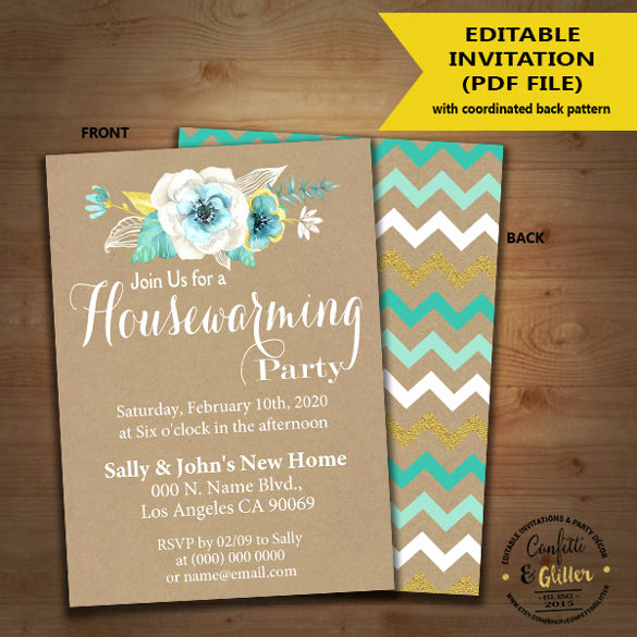 Housewarming Invitation Templates Free Beautiful 35 Housewarming Invitation Templates Psd Vector Eps