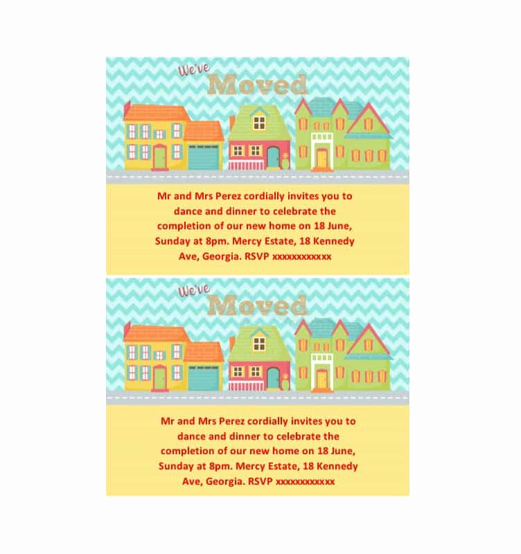 Housewarming Invitation Templates Free Best Of 40 Free Printable Housewarming Party Invitation Templates
