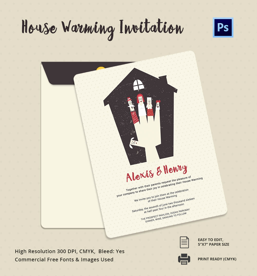 Housewarming Invitation Templates Free Fresh Housewarming Invitation Template 30 Free Psd Vector