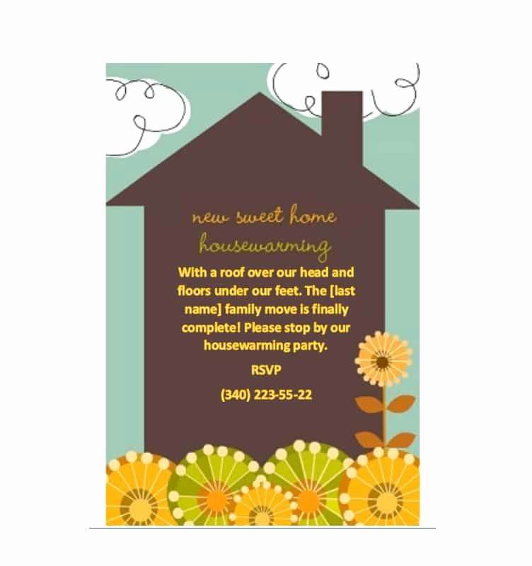 Housewarming Invitation Templates Free Inspirational 40 Free Printable Housewarming Party Invitation Templates