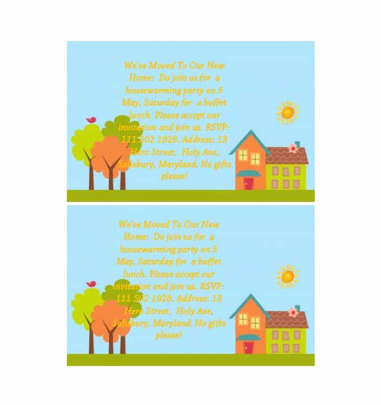 Housewarming Invitation Templates Free Lovely 40 Free Printable Housewarming Party Invitation Templates