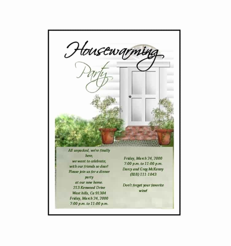 Housewarming Invitation Templates Free New 40 Free Printable Housewarming Party Invitation Templates