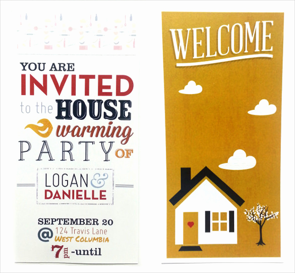 Housewarming Invitation Templates Free Unique 35 Housewarming Invitation Templates Psd Vector Eps