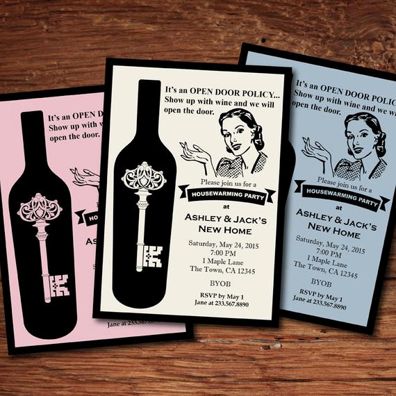 Housewarming Invitation Wording Funny Elegant Retro Housewarming Invitation Fun Stock the Bar Housewarming