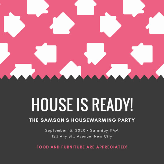Housewarming Invitation Wording Funny Lovely Customize 39 Housewarming Invitation Templates Online Canva