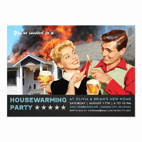 Housewarming Invitation Wording Funny Luxury Funny Housewarming Party Invitations Fire