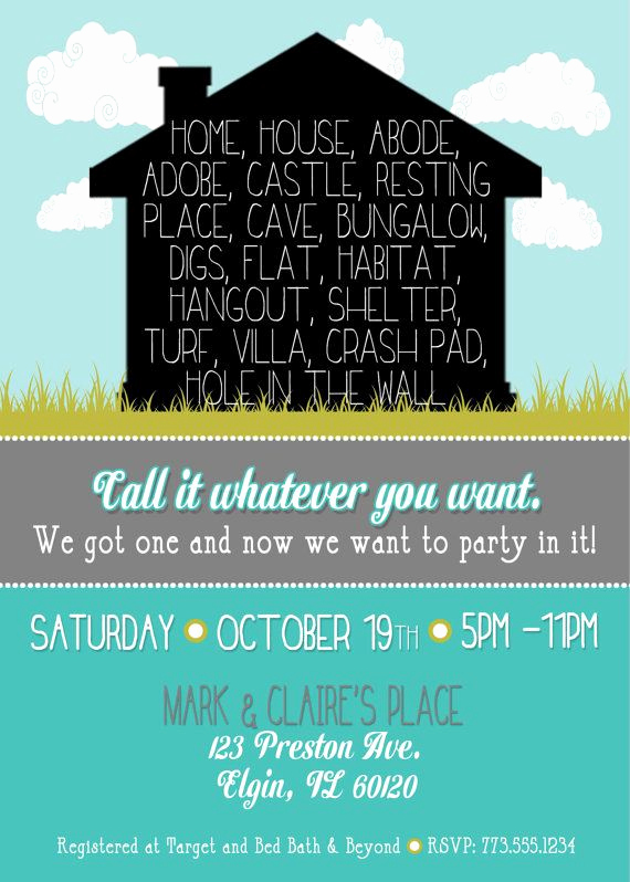 Housewarming Invitation Wording Funny New Fun Housewarming Invitation by Lilygramdesigns On Etsy