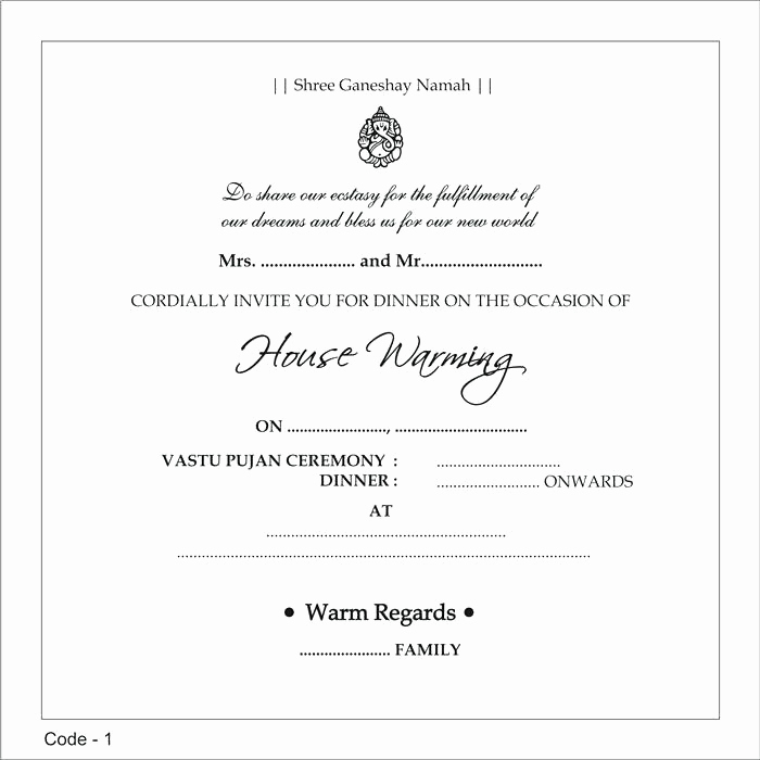 Housewarming Invitation Wording Samples Best Of Indian Housewarming Invitation Wording