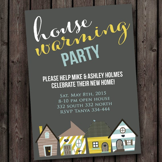 Housewarming Open House Invitation Wording Elegant Fast Ship New Home House Warming Invitation Open House Any