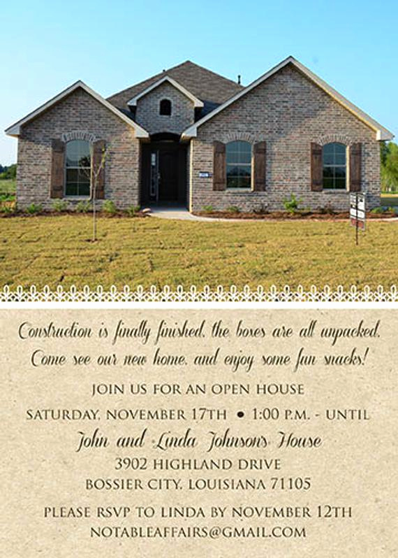 Housewarming Open House Invitation Wording Elegant Home Sweet Home New Home Housewarming Open House by