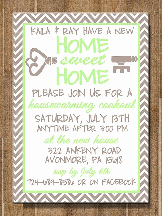 Housewarming Open House Invitation Wording Lovely Printable Housewarming Invitation Home Sweet by