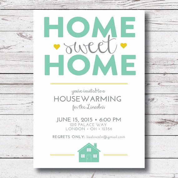 Housewarming Open House Invitation Wording Luxury Printable Housewarming New Home First Home House