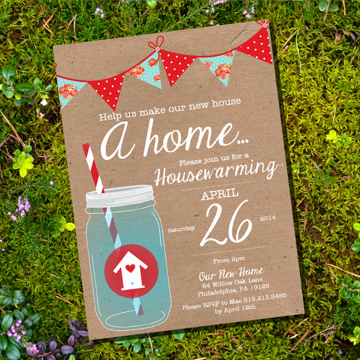 Housewarming Party Invitation Ideas Awesome Shabby Chic Housewarming Invitation Housewarming Party
