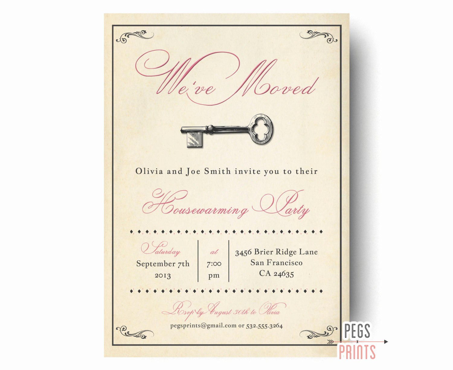 Housewarming Party Invitation Ideas Lovely Vintage Housewarming Party Invitation Rustic House Warming