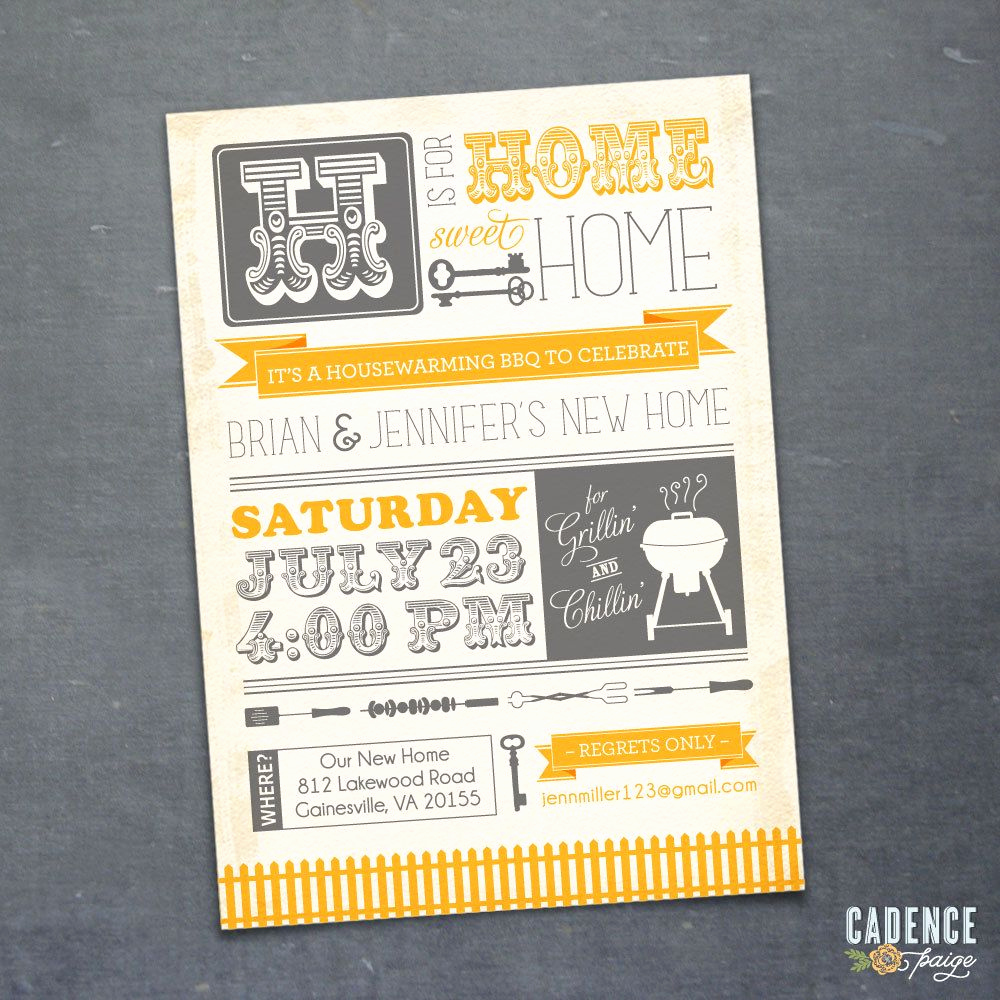 Housewarming Party Invitation Ideas New Housewarming Party Invite Just Clever