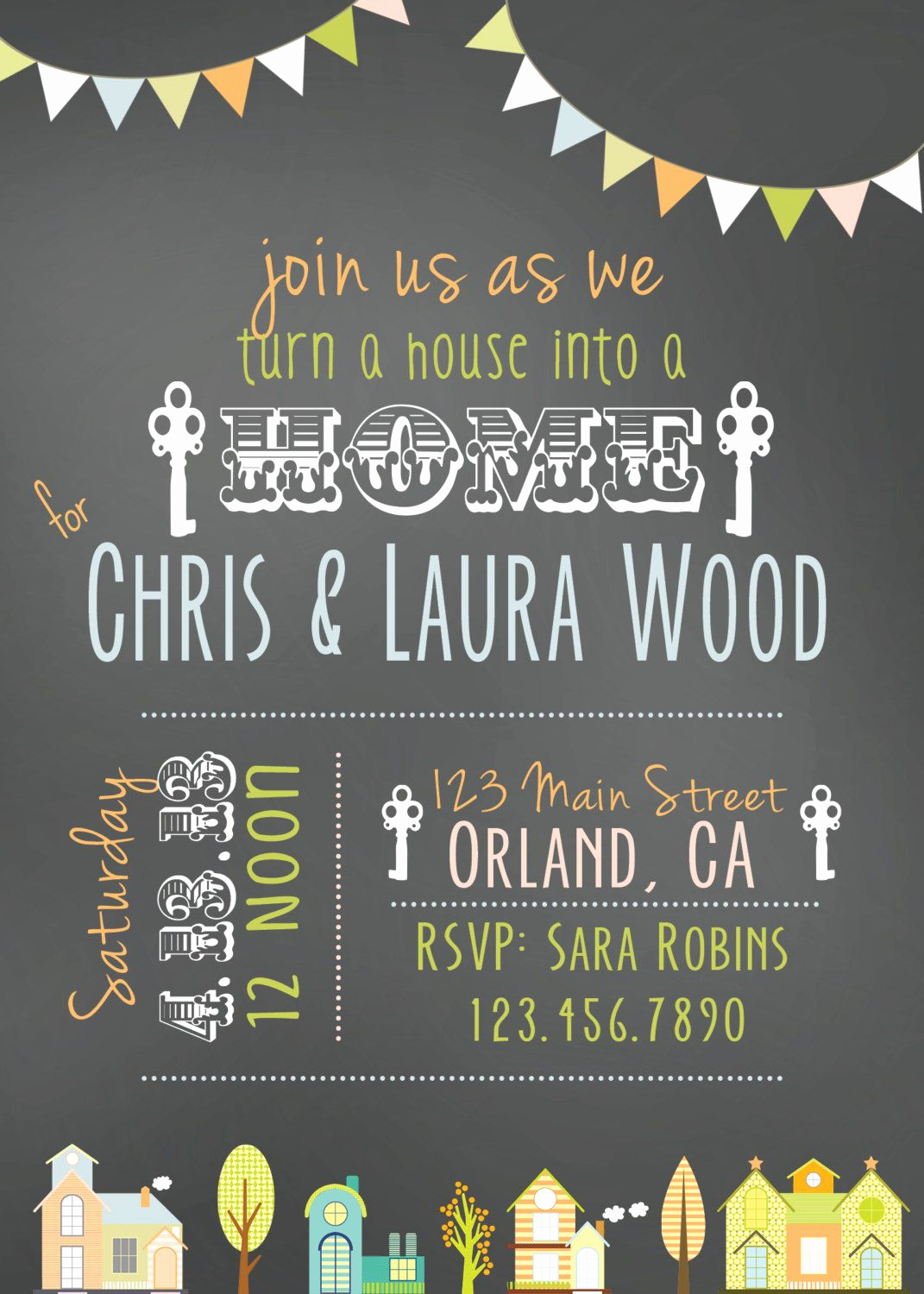 Housewarming Party Invitation Message Best Of House Warming Party Invitation $12 00 Via Etsy Repinned