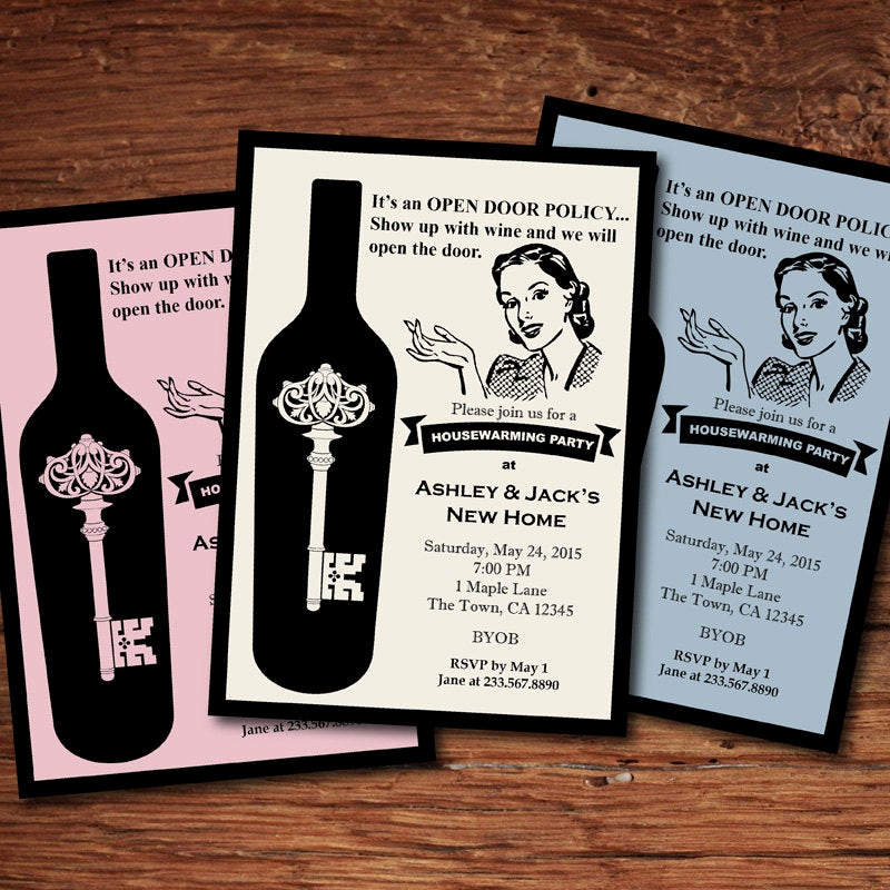 Housewarming Party Invitation Message Fresh Retro Housewarming Invitation Fun Stock the Bar Housewarming