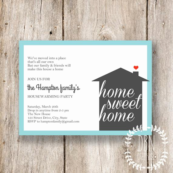 Housewarming Party Invitation Template Awesome Home Sweet Home Housewarming Invitations by
