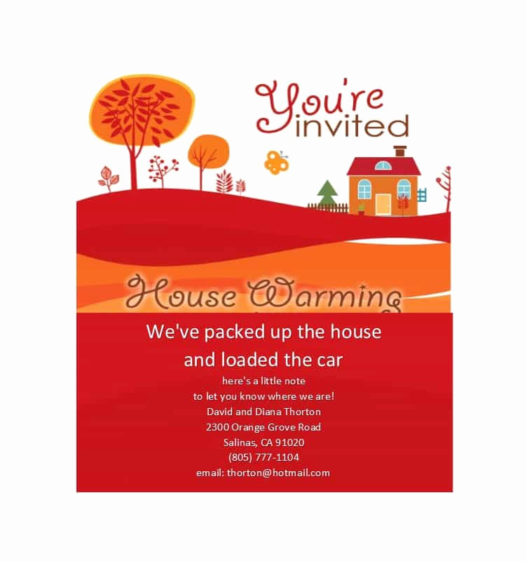 Housewarming Party Invitation Template Inspirational 40 Free Printable Housewarming Party Invitation Templates