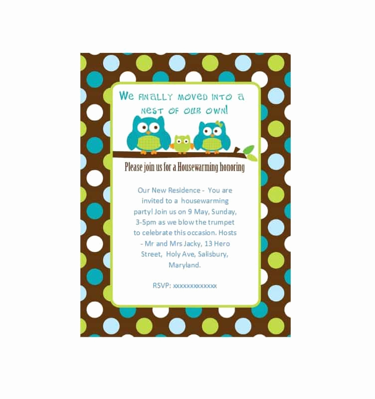 Housewarming Party Invitation Template New 40 Free Printable Housewarming Party Invitation Templates