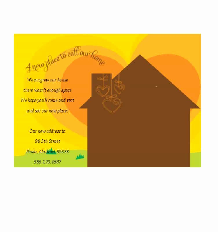 Housewarming Party Invitation Templates Awesome 40 Free Printable Housewarming Party Invitation Templates